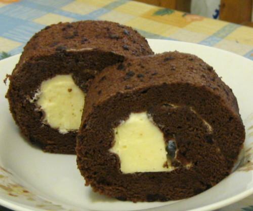 巧克力奶凍捲