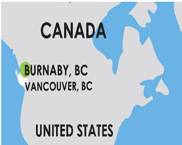 Burnaby在加拿大的哪裡