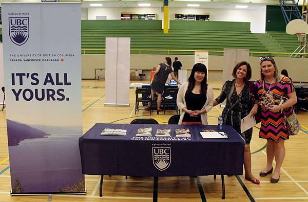 UBC不列顛哥倫比亞大學也有到校園博覽會介紹喔