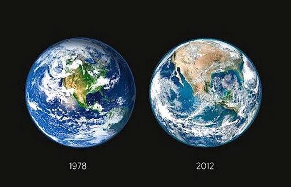 1978年2012年地球的對比