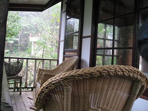 茶室外的觀景台