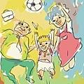 大家一起踢足球