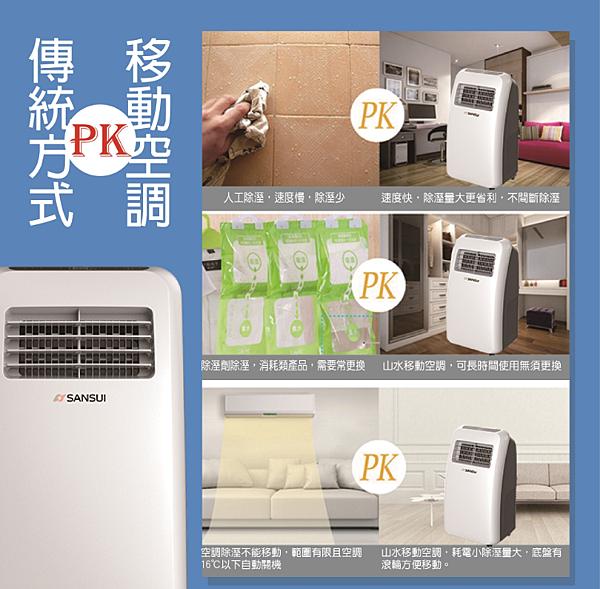 移動式冷氣機推薦 SANSUI 山水 除濕移動式空調 SAC09C