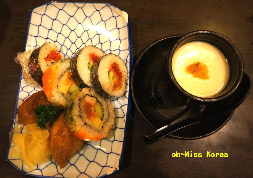 茶碗蒸、綜合壽司