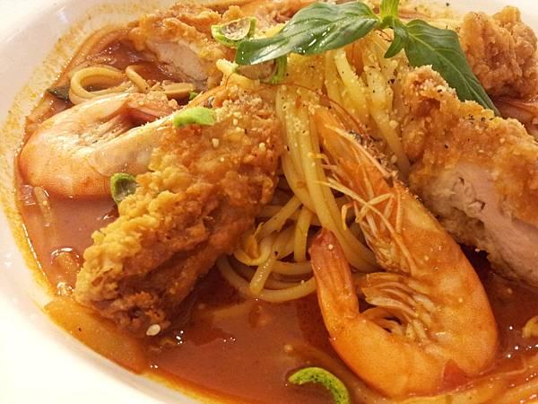 椒麻鮮蝦雞柳麵1