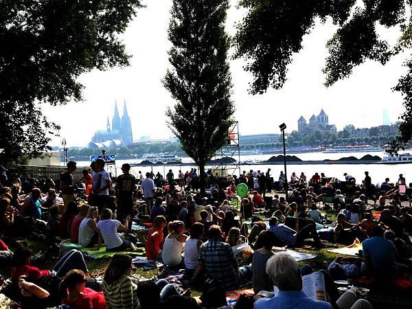 科隆音樂煙火節 萊茵河畔