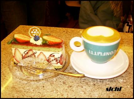 臻果卡布+草莓蛋糕