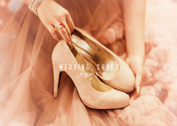 細膩浪漫蕾絲厚底高跟鞋*粉