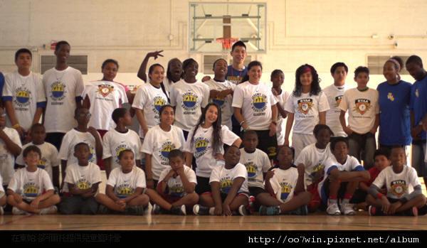 Providing basketball camp for children East Palo Alto