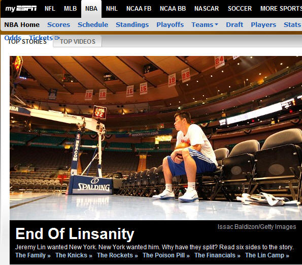 ESPN - End Of Linsanity