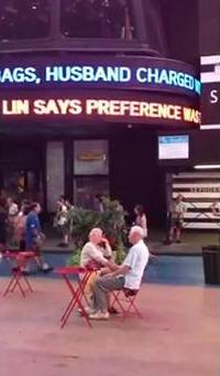 紐約街頭電子看板 林書豪說本來更想留尼克的1