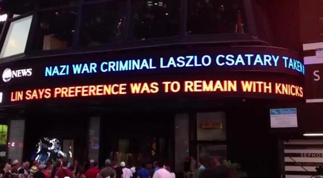 紐約街頭電子看板 林書豪說本來更想留尼克的