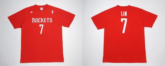 林書豪7號紅色T恤預定4日在台灣開賣