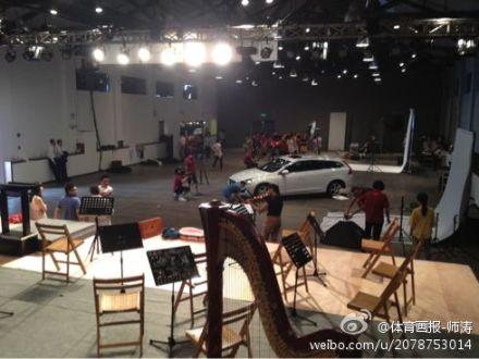 2012VOLVO汽車林書豪中國行活動現場準備中 1