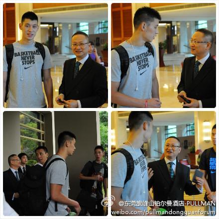 -東莞旗峰山鉑爾曼酒店-PULLMAN-分享圖片Jeremy Lin林書豪先生離開東莞前往香港啦-酒店總經理張建華先生與林先生的合影。