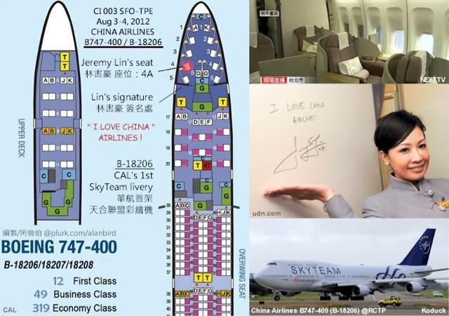 2012.08.04林書豪返台搭華航首架天合聯盟彩繪機