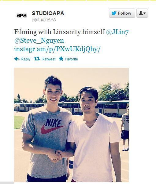 Steve Nguye Filming with Linsanity himself