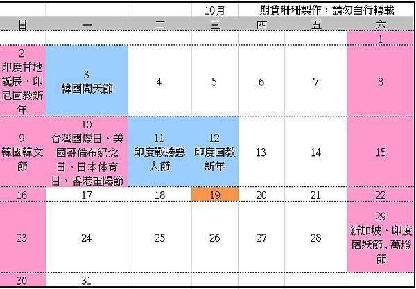2016全球股市行事曆、105台灣封關日期貨結算日、美國股市交易日_11