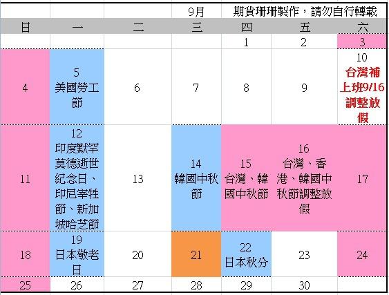 2016全球股市行事曆、105台灣封關日期貨結算日、美國股市交易日_10