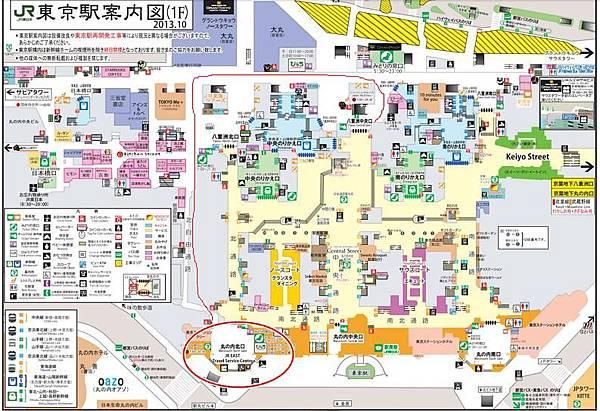 東京車站平面圖