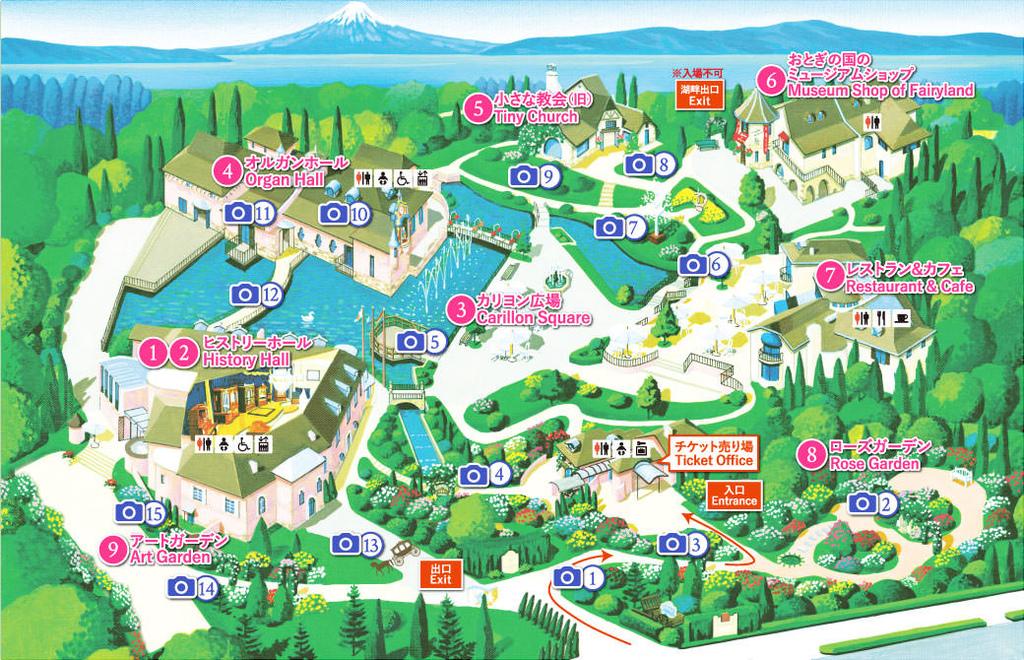 音樂盒之森map