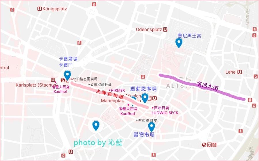瑪莉恩廣場地圖
