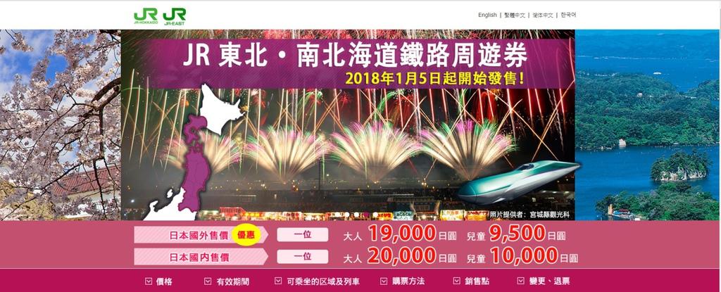 JR東北南北海道周遊券5天