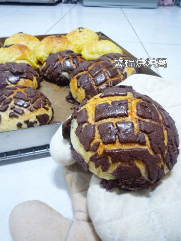 969-巧克力菠蘿皮麵包2012.10.20