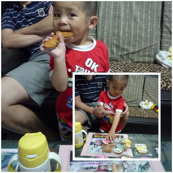 弟弟吃收涎餅