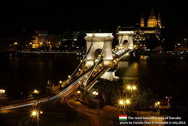 Beautiful Chain Bridge in Budapest.