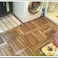 HOME BOX買的DIY防水木頭地板