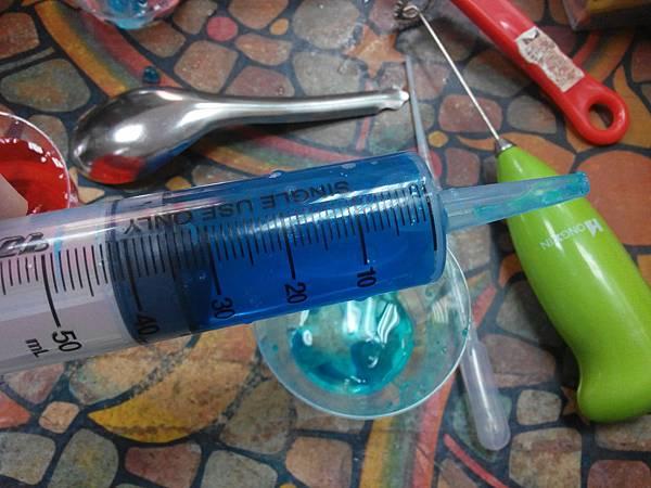 15 藍色 針筒