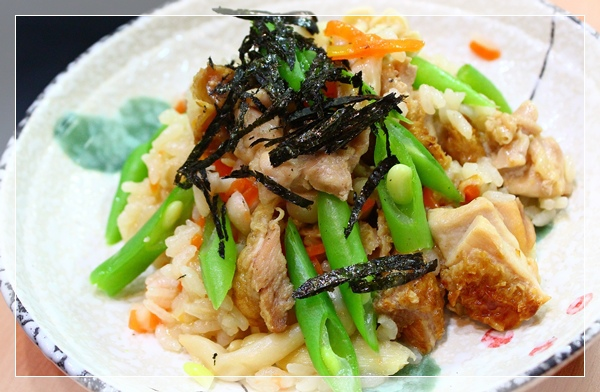 雞肉菇菇炊飯6