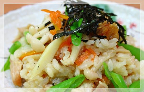 雞肉菇菇炊飯8