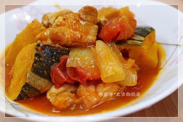 日式雞肉燉南瓜蕃茄5