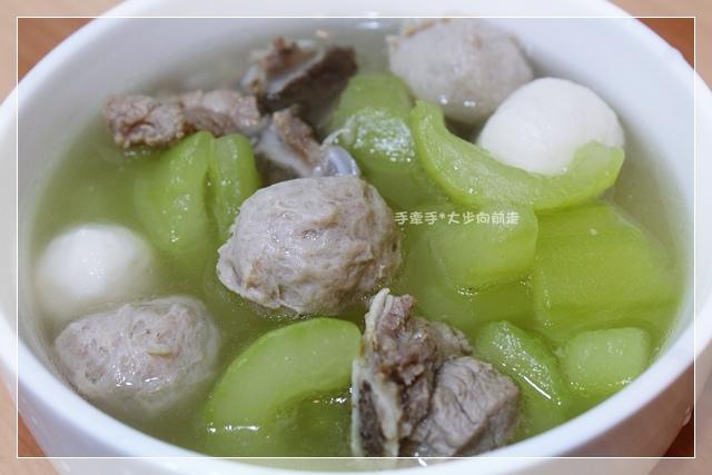 大黃瓜魚丸湯1