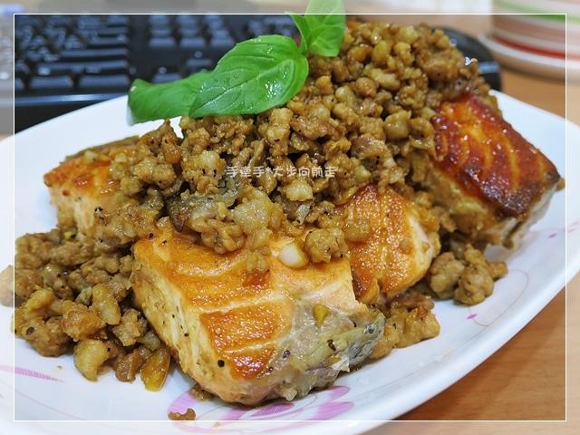 鮭魚炒肉燥3