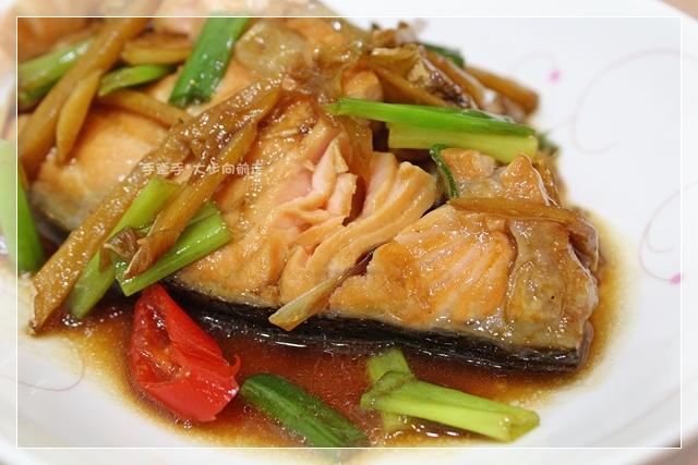 蔥燒鮭魚2