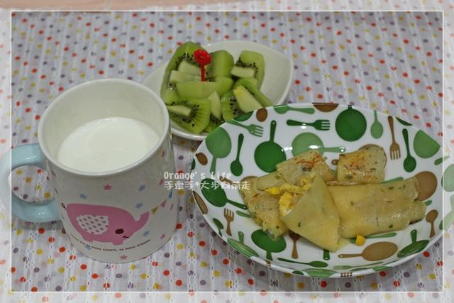 DAY29-起司蛋餅+鮮奶+水果.JPG