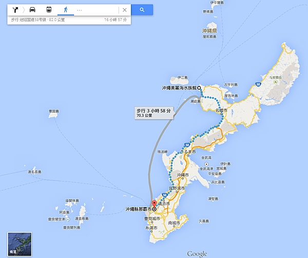 google map_okinawa