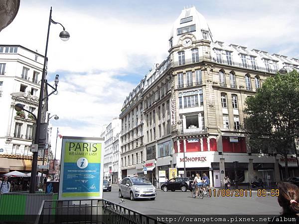 巴黎的弟一印象~~簡值是美的目瞪口呆。