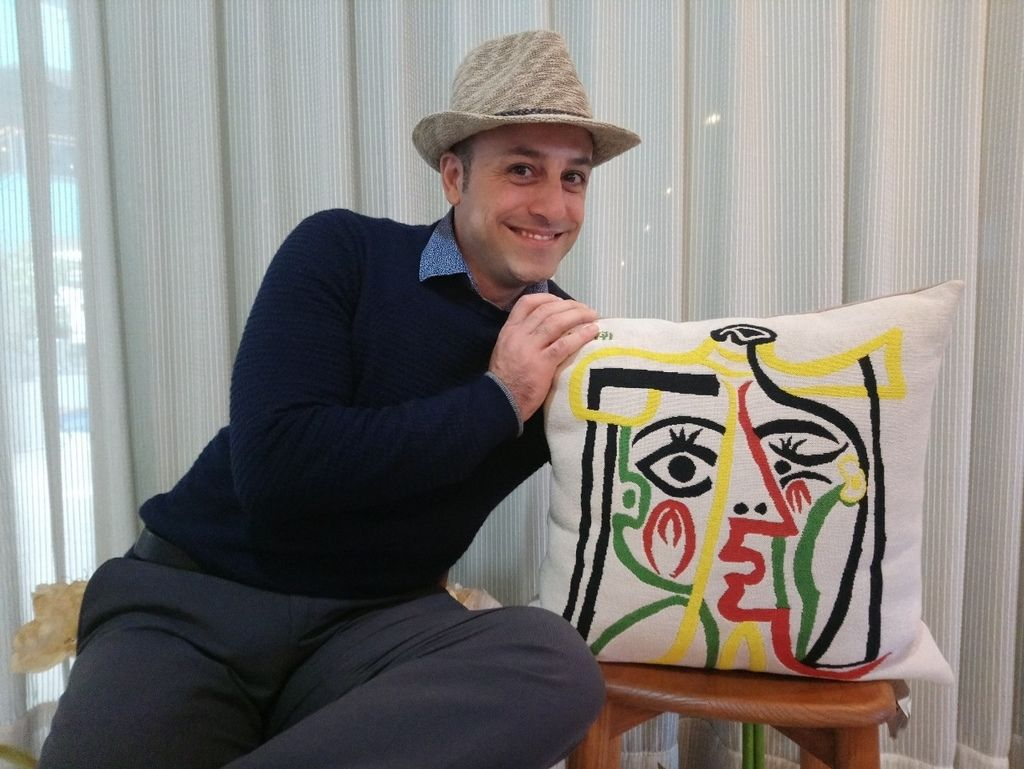 畢卡索抱枕義大利設計師北歐風格家具