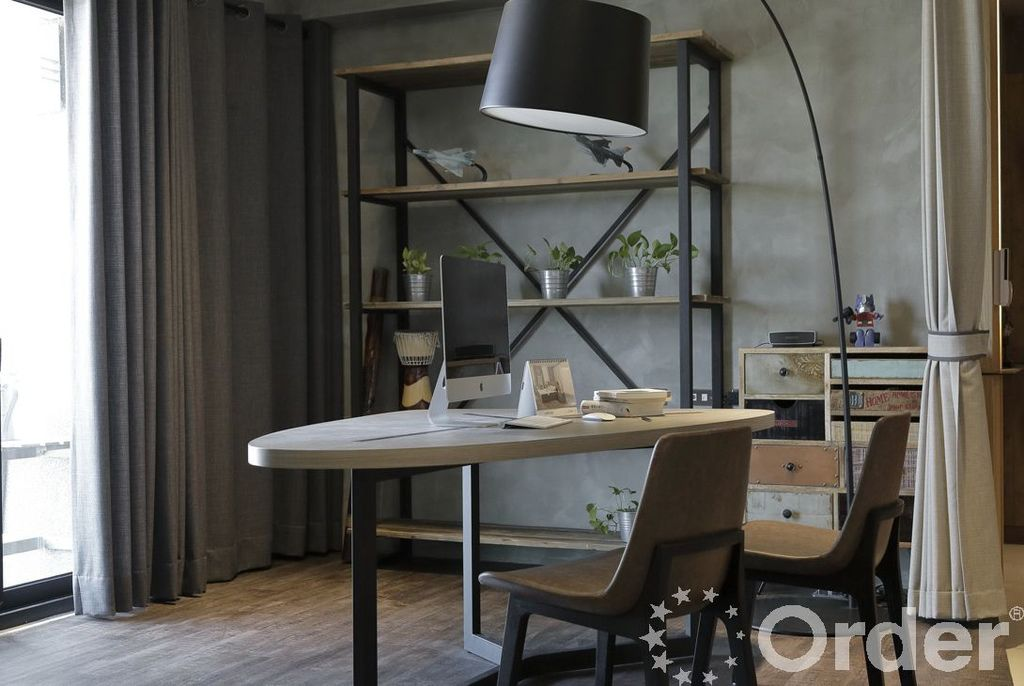 金屬與木頭融合的室內設計工業風