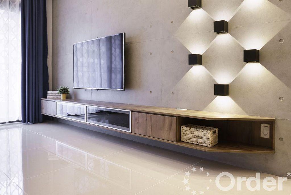 工業風客廳選用多層次燈光展現個性