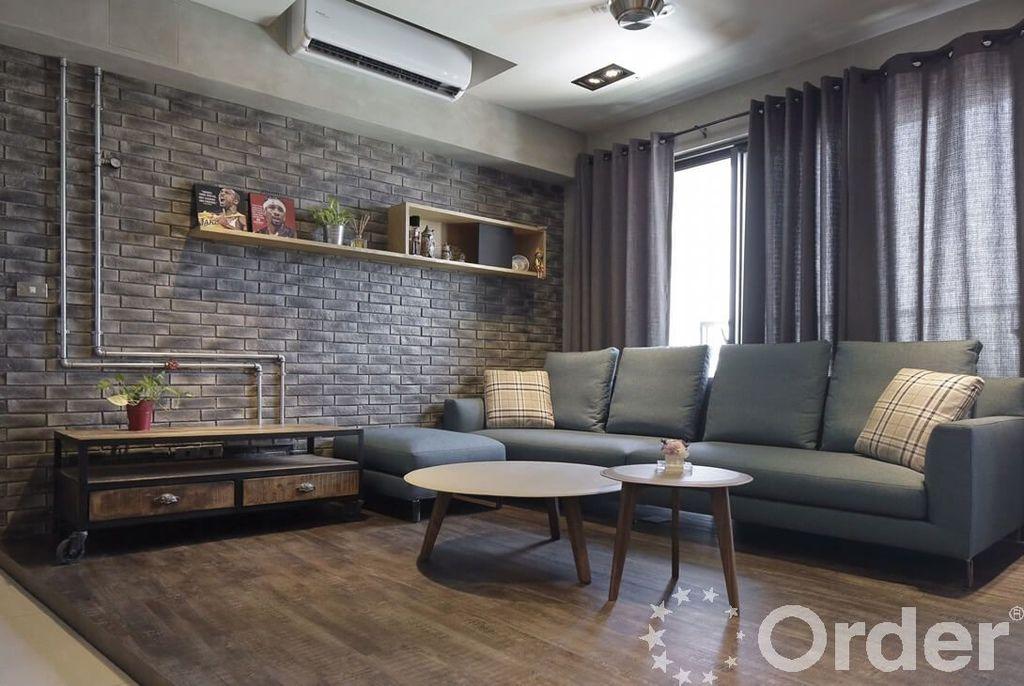 工業風格裝潢設計:客廳