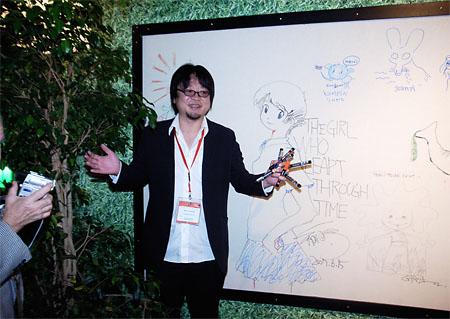 《跳躍吧!時空少女》安錫動畫影展,細田守簽名