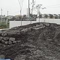 前湧泉泳池角石堆疊