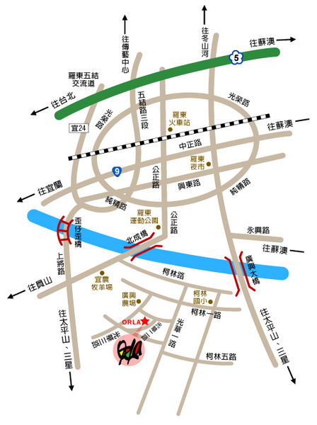ORLAL交通圖