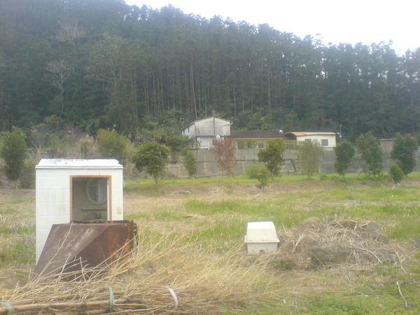荒涼的紅磚屋廁所