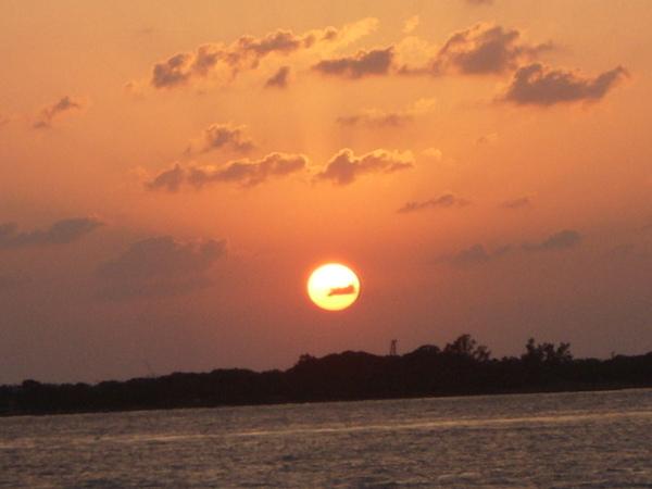 這張是在墾丁拍的夕陽